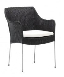 Sika Design Venus lænestol m/hynde - Sort