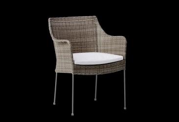 Sika Design Venus lænestol m/hynde - Teak grå
