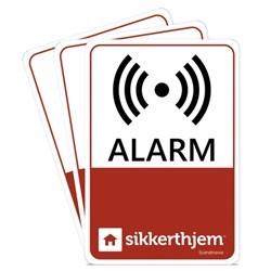 Sikkerthjem Præventive alarmmærkater (3-pak)
