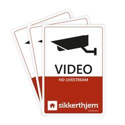 Sikkerthjem Præventive videomærkater (3-pak)