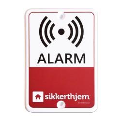 SikkertHjem præventivt alarmskilt