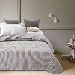 Simone quiltet sengetæppe - Grå