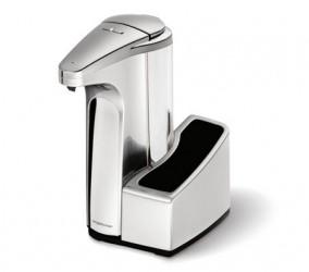 Simplehuman Opvaskemiddelspumpe med Sensor og Holder 384ml Børstet Nikkel