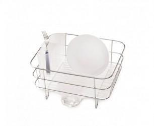 Simplehuman Opvaskestativ Trådramme Kompakt Børstet Stål/Frostet plast