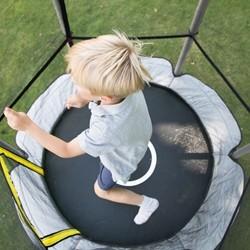 SimplyBestBuy Mini Trampolin mit Sicherheitsnetz 140cm