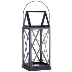 Sirius lanterne med batteridrevet lyskæde - Aske - Sort