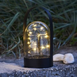 Sirius lanterne med lyskæde - Arthur - Sort