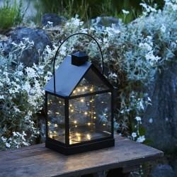 Sirius lanterne med lyskæde - Lauritz - Sort