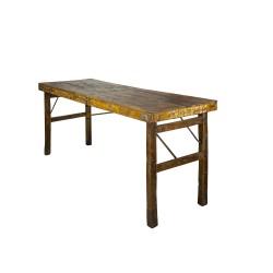SJÄLSÖ NORDIC originalt konsolbord, m. foldbare ben - genbrugstræ (174x59)
