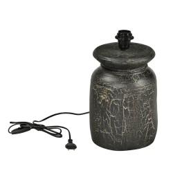 SJÄLSÖ NORDIC rund bordlampe - sort træ (Ø22)