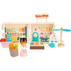 Small Foot legesæt - Købmandsbutik og isbod