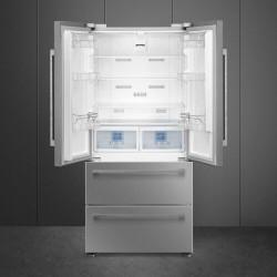 Smeg FQ55FXDF Amerikanerkøleskab - Stål Look