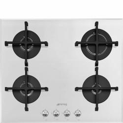 Smeg Pv164b2 Gaskogeplade - Hvid/glas