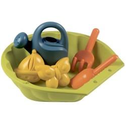 Smoby mini sandkasse med legetøj - Grøn