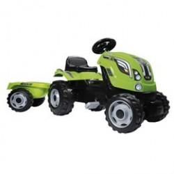 Smoby traktor med anhænger - Grøn
