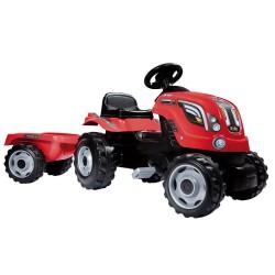 Smoby traktor med anhænger - Rød