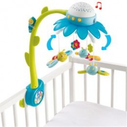 Smoby uro med musik - Cotoons Flower Mobile - Blå
