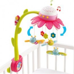 Smoby uro med musik - Cotoons Flower Mobile - Lyserød