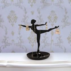 Smykkeholder ballerina - sort
