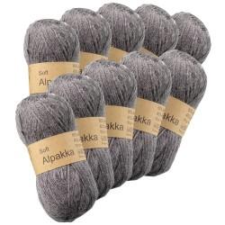 Soft Alpakka garn - 10 nøgler à 50 g