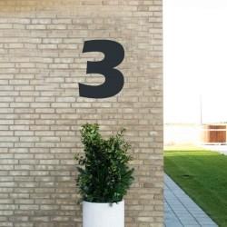 Sort husnummer 3 - 40 cm