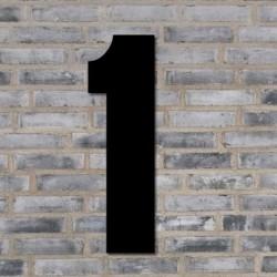 Sort husnummer 40 cm - 1