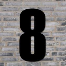Sort husnummer 40 cm - 8