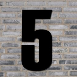 Sort husnummer 40 cm - 5