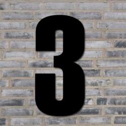 Sort husnummer 40 cm - 3