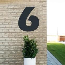 Sort husnummer 6 - 80 cm