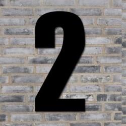 Sort husnummer 70 cm - 2