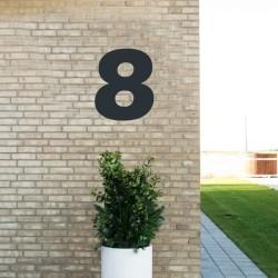 Sort husnummer 8 - 40 cm