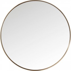 Spejl Curve Round Kobber Ø100 cm