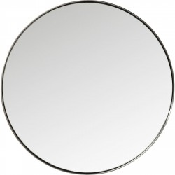 Spejl Curve Round Stål Nature Ø100 cm