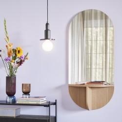 Spejl med hylde egetræ - Hübsch