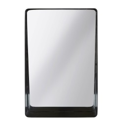 Spejl med sort metal ramme