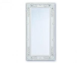 Spejl m/facetslebet glas - Hvid m/sølv - 93 x 183 cm