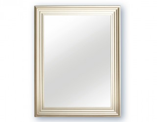 Spejl m/facetslebet glas - sølv - 70 x 90 cm