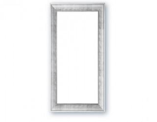 Spejl m/facetslebet glas - sølv - 90 x 190 cm