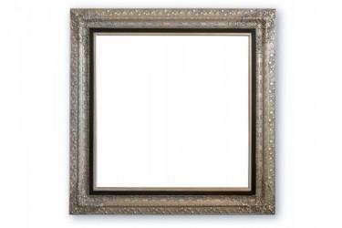 Spejl m/facetslebet glas - Sølv/sort - 161 x 161 cm