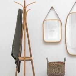 Spejl til væg i træramme - medium