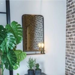 Spejl til væg med hylde
