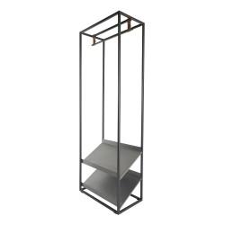 SPINDER DESIGN Casto Blacksmith tøjstativ m. bøjlestang og 2 skohylder - stål