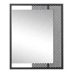 SPINDER DESIGN Mesh vægspejl, rektangulær - sort stål og spejlglas (45x55)