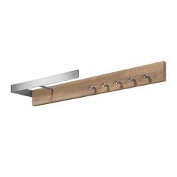 SPINDER DESIGN rektangulær Noa knagerække, m. 5 knager og bøjlestang - stål