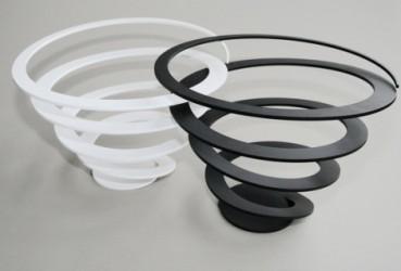 Spiral skÅl (hvid)