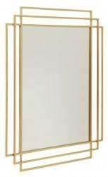 Square Spejl i jern - Guld