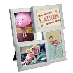 Stål fotoramme til 4 billeder