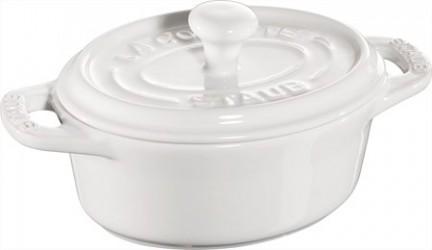 Staub Oval minigryde 11 cm hvid 0,2 L
