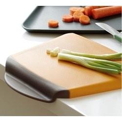 Steel-function chop n scoop skærebræt - orange